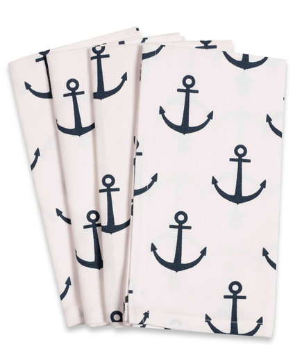 Anchor Fete Buffet Napkins in White