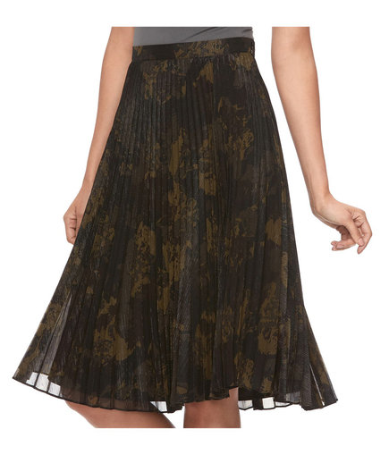 Kohl's Pleated Camo Skirt