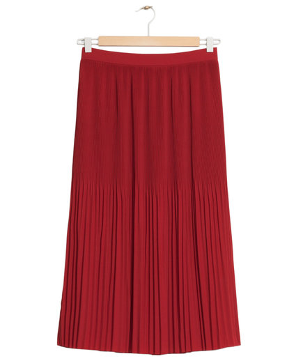& Other Stories Mini Pleated Crepe Skirt