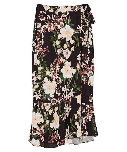 Zara Printed Wrap Skirt