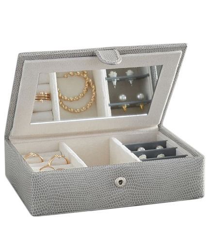McKenna Leather Travel Jewelry Box