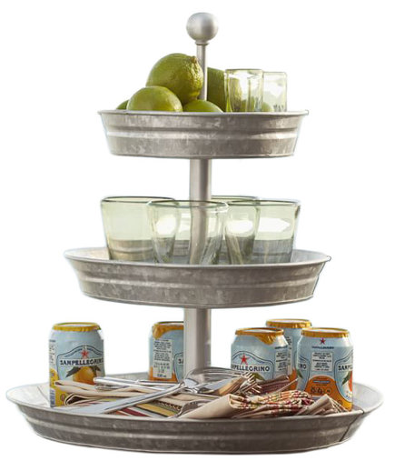 Rivet Galvanized Metal 3-Tier Stand