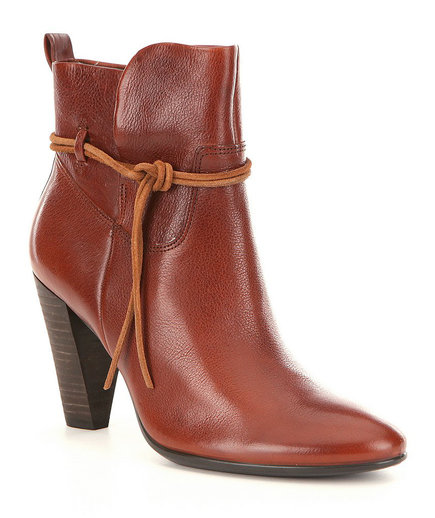 ECCO Shape 75 Leather Wraparound Ankle Boots