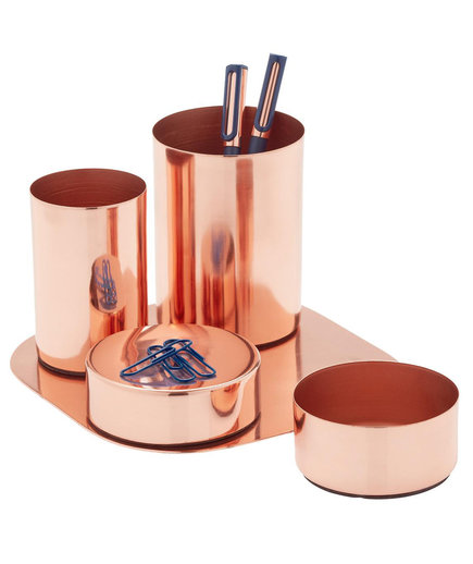 Copper Magnetic Desk Set