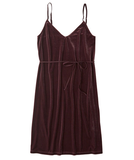 Abercombie & Fitch Velvet Slip Dress