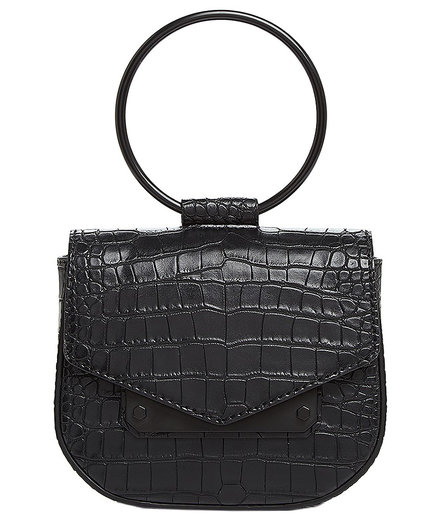 Nasty Gal Ring Leather Embossed Crossbody