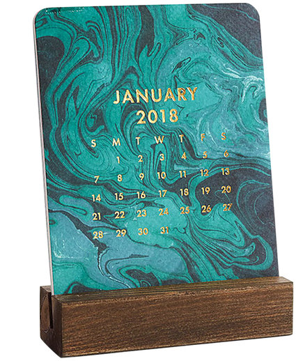 2018 Marbled Easel Box Calendar
