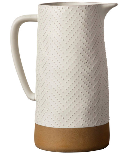 Textured Stoneware Pitcher