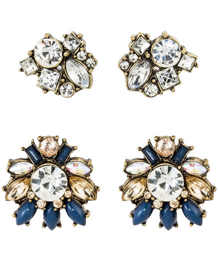 Sugarfix by BaubleBar Crystal Stud Earring Set of Two