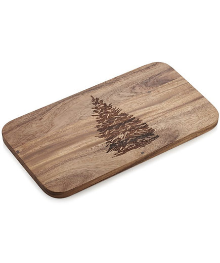 Evergreen Tree Wood Serving Board