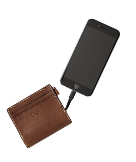 Slim Leather Charging Wallet