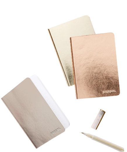 Poppin Assorted Metallic Mini Soft Cover Notebook Set