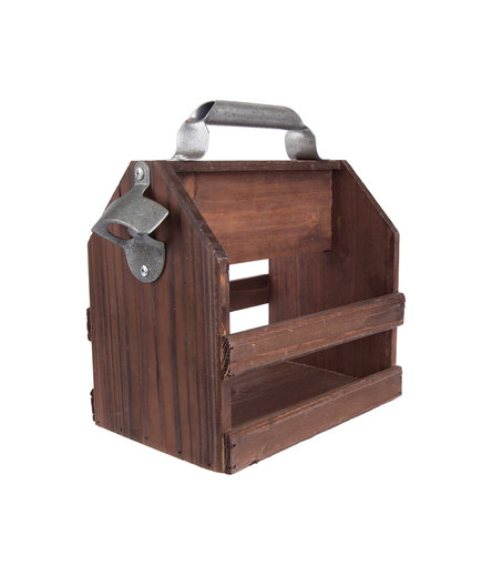 Wembley Wooden Bottle Caddy with Bottle Opener
