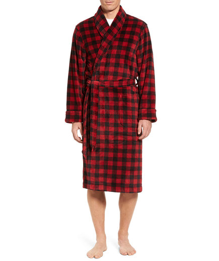 Buffalo Check Fleece Robe