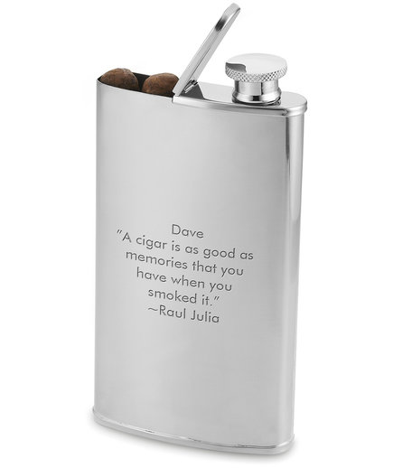Stainless Steel Cigar Flask