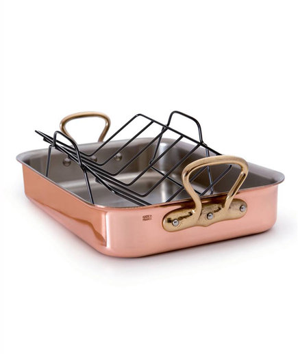 M'heritage M'150s Copper Tri-Ply Roaster With Rack