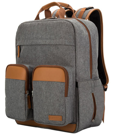 Lekebaby Diaper Bag Backpack with Leather Details