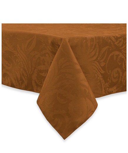 Autumn Scroll Demask Tablecloth