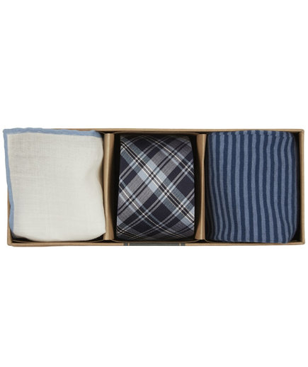 Tie Bar Narrative Plaid Gift Set
