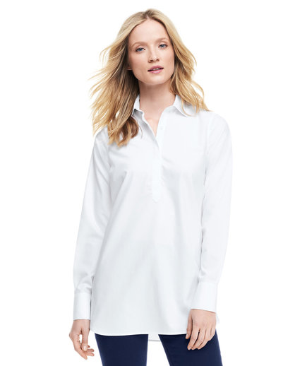 Lands' End No Iron Tunic Top