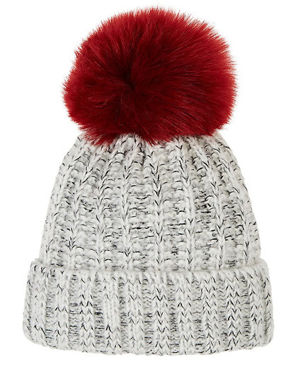 Barneys New York Pom-Pom Embellished Wool-Blend Hat