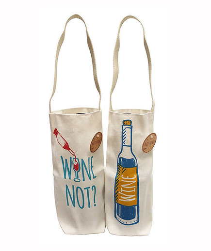 Earthwise Cotton Canvas Reusable Wine Gift Bag Tote