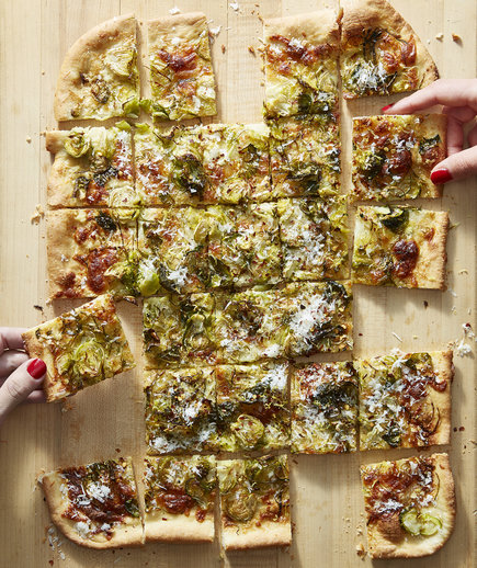 Brussels Sprout Pizza With Lemon and Pecorino