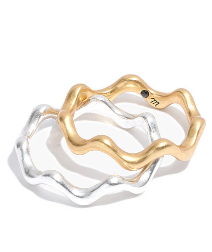 Madewell Wavy Ring Set