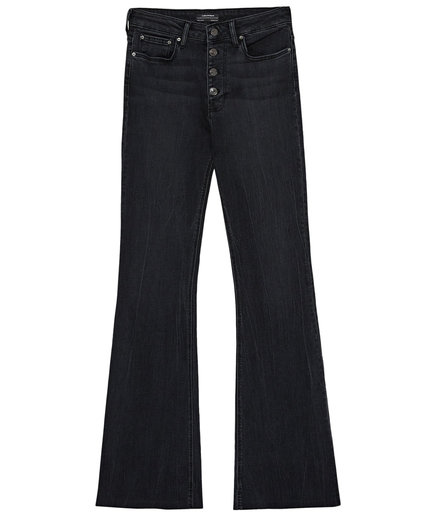 Zara The Skinny Flare Jeans with Button Fly