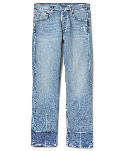 GAP Super High Rise Cone Denim Button-Fly Straight Jeans