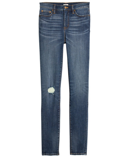 J. Crew Distressed Nevada Wash High-Rise Skinny Jean