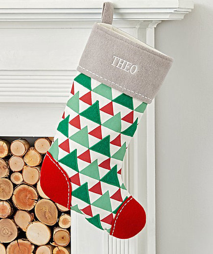 Merry Modern Personalized Tree Stocking