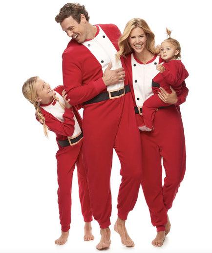 Kohl's Jammies For Your Families Santa Suit Pajamas