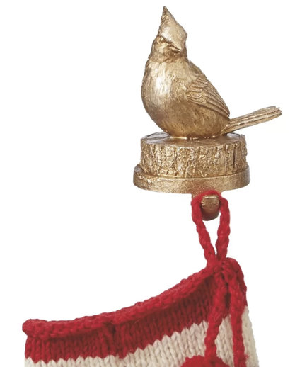 Woodland Cardinal Stocking Hanger