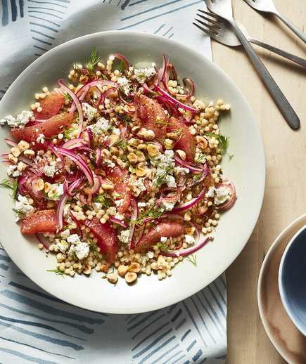 Grapefruit and Feta Fregola Salad