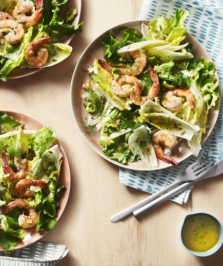 Shrimp, Escarole and Fennel Salad With Olive-Herb Dressing (12 Delicious Ways to Eat More Greens)
