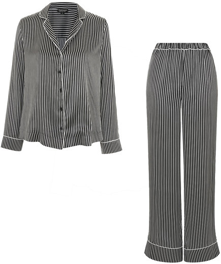 Topshop Satin Striped Shirt and Pyjama Trousers
