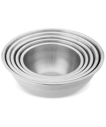 Stainless-Steel Restaurant Mixing Bowls