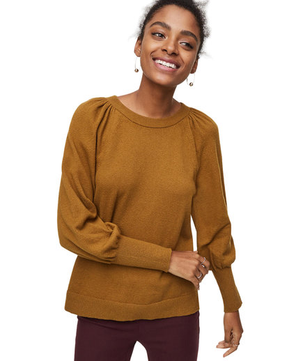 LOFT Puff Sleeve Sweater