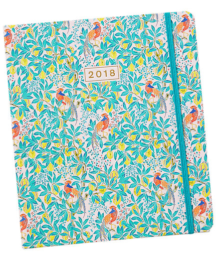 Liberty for Anthropologie Peacock Orchid Planner