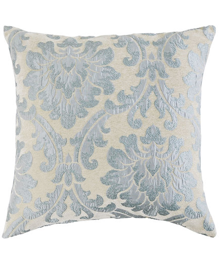 Damask Smoke Blue Pillow