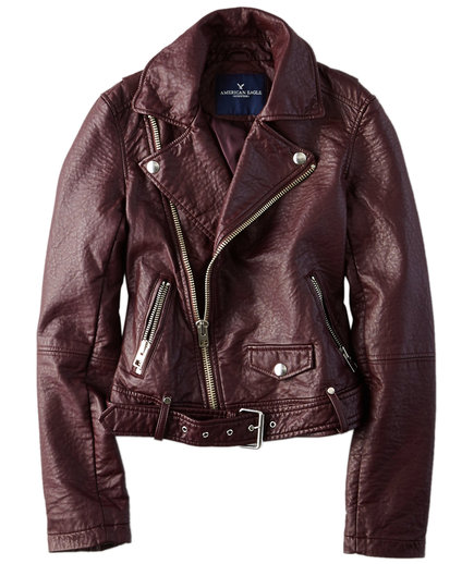 American Eagle Outfitters Faux-Leather Moto Jacket