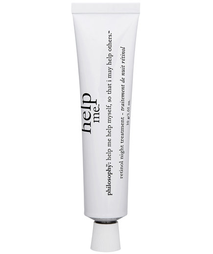 "help me retinol night treatment reviews Quick summary: philosophy help me retinol treatment is a great choice for those who want an ""in-between"" product by that, we mean it's strong enough to help with fine lines, dark spots sand smoothness– but not so strong that it causes a lot of irritation."