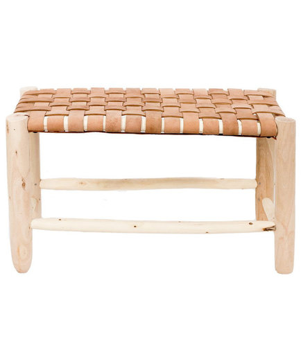 Moroccan Leather Bench