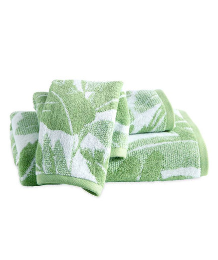Miami Leaf Bath Towel, Hand Towel, and Washcloth Set