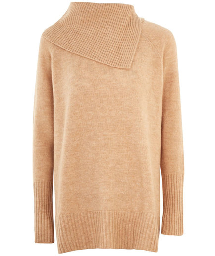 Topshop Split Roll Neck Sweater