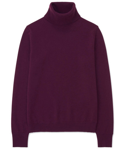 Uniqlo Cashmere Turtleneck in Purple