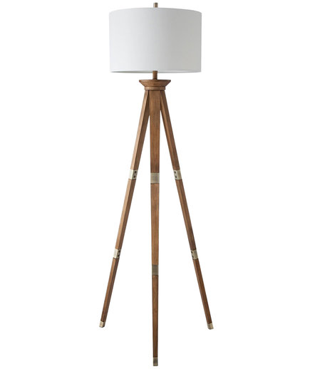 Oak Wood Tripod Floor Lamp