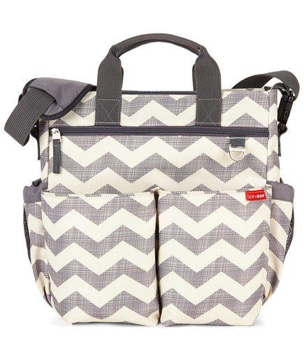 SKIP*HOP Duo Signature Diaper Bag in Chevron