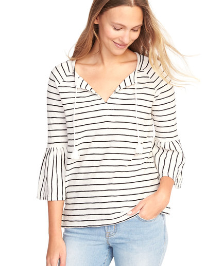 Old Navy Tassel-Tie Ruffle-Sleeve Swing Top